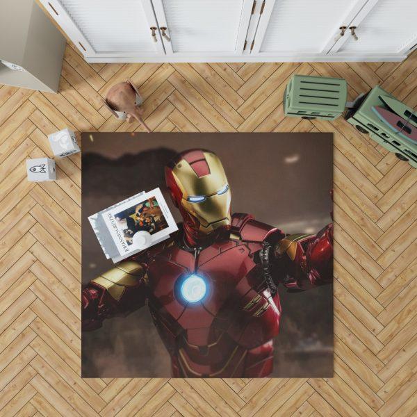 Iron Man 2 Movie Figurine Bedroom Living Room Floor Carpet Rug 1