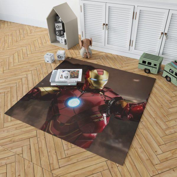 Iron Man 2 Movie Figurine Bedroom Living Room Floor Carpet Rug 2