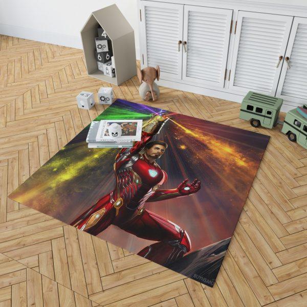 Iron Man Infinity Gauntlet Tony Stark Avengers Endgame Movie Bedroom Living Room Floor Carpet Rug 2