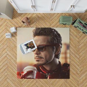 Iron Man Movie Figurine Robert Downey Jr Bedroom Living Room Floor Carpet Rug 1