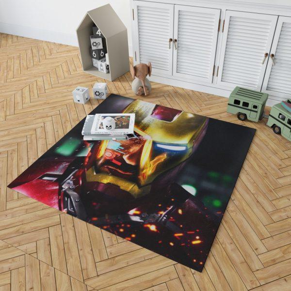Iron Man Movie Marvel End game Bedroom Living Room Floor Carpet Rug 2