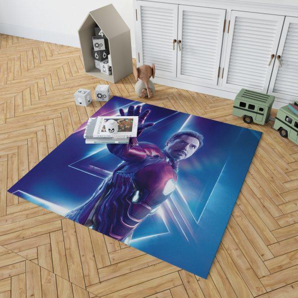 Iron Man Robert Downey Jr Tony Stark Bedroom Living Room Floor Carpet Rug 2