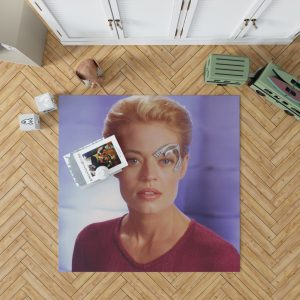 Jeri Ryan in Star Trek Voyager TV Show Bedroom Living Room Floor Carpet Rug 1