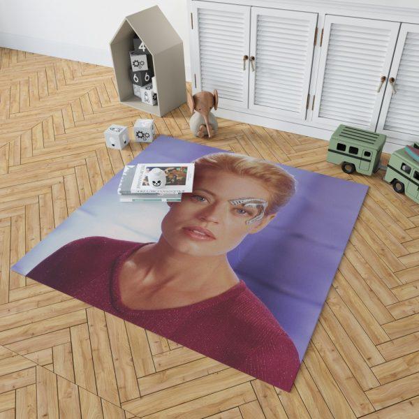 Jeri Ryan in Star Trek Voyager TV Show Bedroom Living Room Floor Carpet Rug 2
