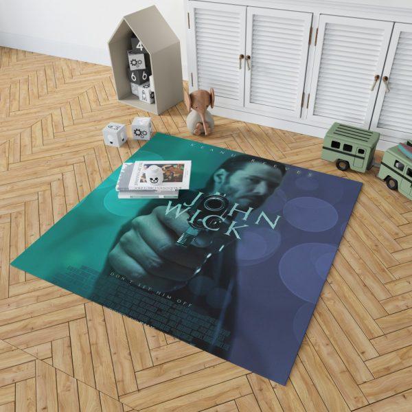 John Wick 2014 Movie Keanu Reeves Bedroom Living Room Floor Carpet Rug 2