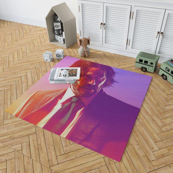 John Wick 3 Parabellum Movie Keanu Reeves Bedroom Living Room Floor Carpet Rug 2