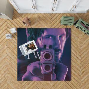 John Wick Chapter 2 Movie John Wick Keanu Reeves Bedroom Living Room Floor Carpet Rug 1