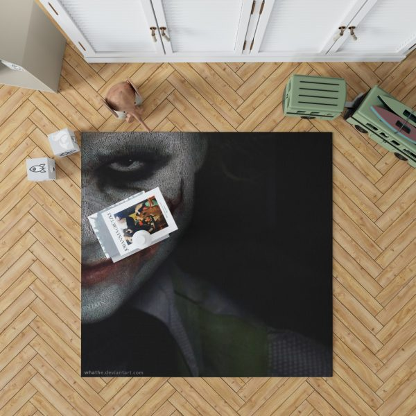Joker in The Dark Knight Batman Movie Bedroom Living Room Floor Carpet Rug 1