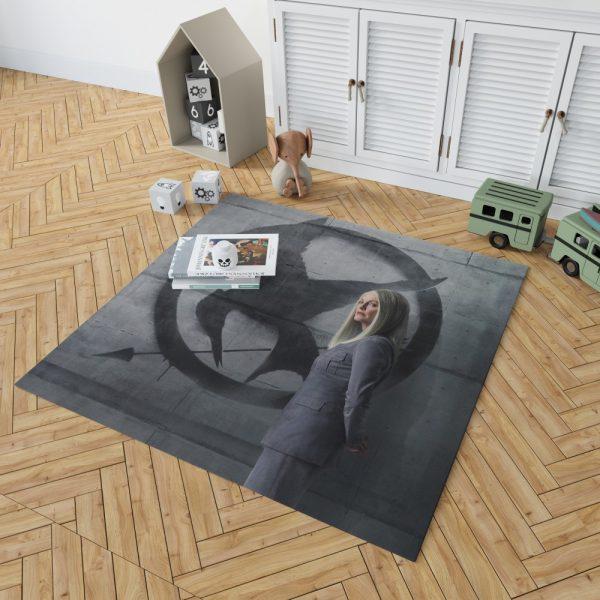 Julianne Moore in The Hunger Games Mockingjay Part 2 Movie Bedroom Living Room Floor Carpet Rug 2