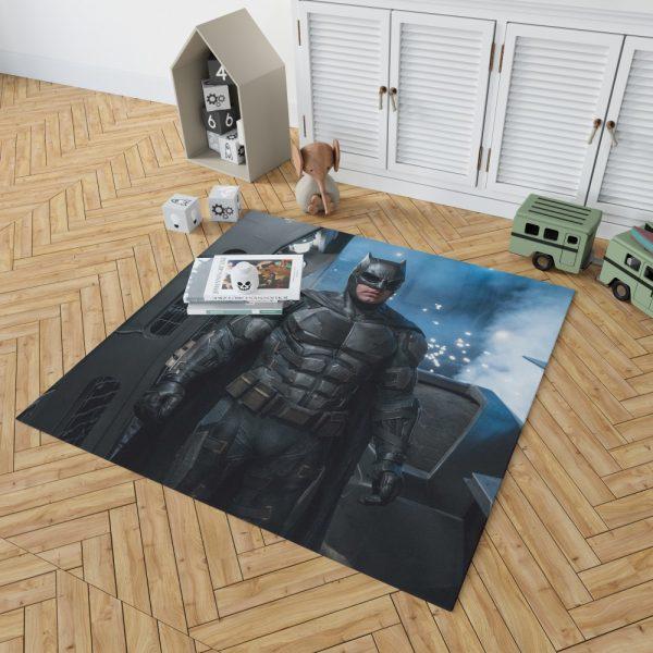 Justice League 2017 Movie Batman Ben Affleck Bruce Wayne Bedroom Living Room Floor Carpet Rug 2