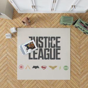 Justice League 2017 Movie DC Comics Logo Bedroom Living Room Floor Carpet Rug 1