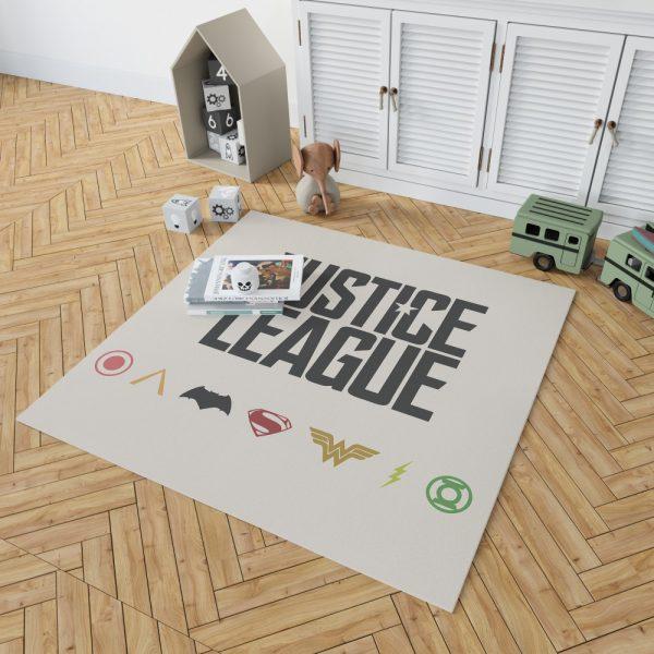 Justice League 2017 Movie DC Comics Logo Bedroom Living Room Floor Carpet Rug 2