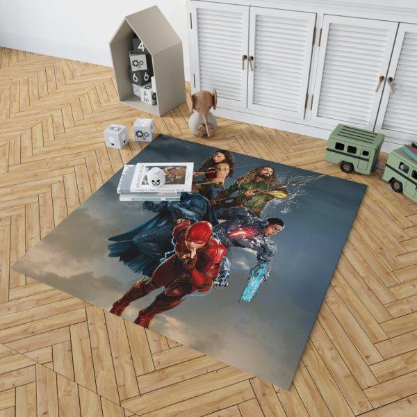 Justice League Movie Teen Bedroom Bedroom Living Room Floor Carpet Rug 2