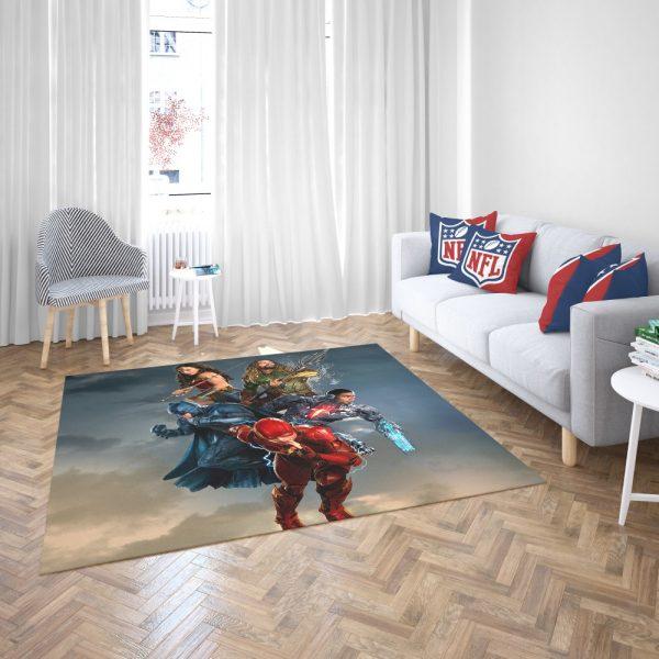 Justice League Movie Teen Bedroom Bedroom Living Room Floor Carpet Rug 3