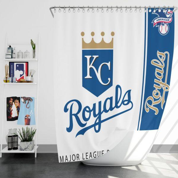Kansas City Royals MLB Baseball American League Bath Shower Curtain