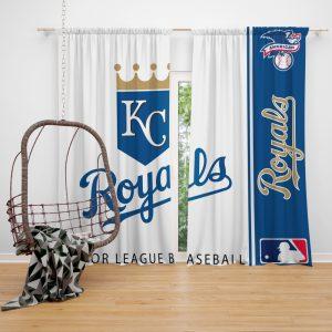 Kansas City Royals MLB Baseball American League Window Curtain