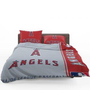 Los Angeles Angels MLB Baseball American League Bedding Set 1