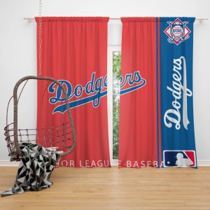 Los Angeles Dodgers MLB Baseball National League Window Curtain
