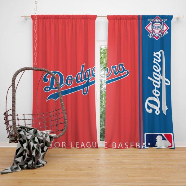 Los Angeles Dodgers MLB Baseball National League Window Curtain