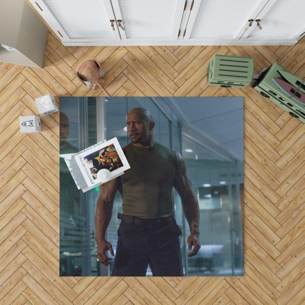 Luke Hobbs Dwayne Johnson in Furious 7 Fast & Furious Movie Bedroom Living Room Floor Carpet Rug 1