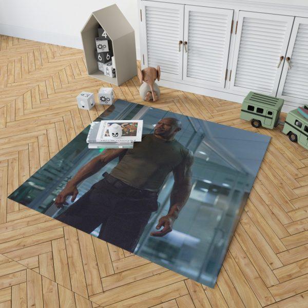 Luke Hobbs Dwayne Johnson in Furious 7 Fast & Furious Movie Bedroom Living Room Floor Carpet Rug 2