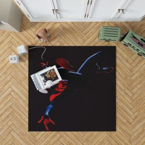 MCU Spider-Man Into The Spider-Verse Movie Miles Morales Bedroom Living Room Floor Carpet Rug 1