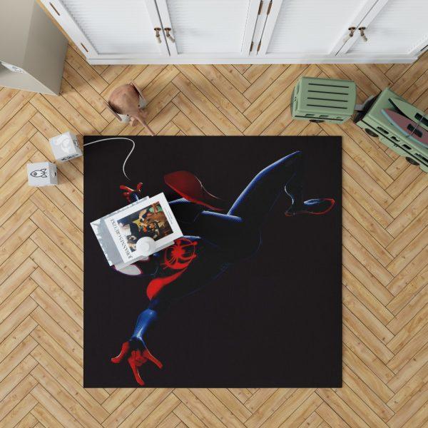 MCU Spider-Man Into The Spider-Verse Movie Miles Morales Bedroom Living Room Floor Carpet Rug 1