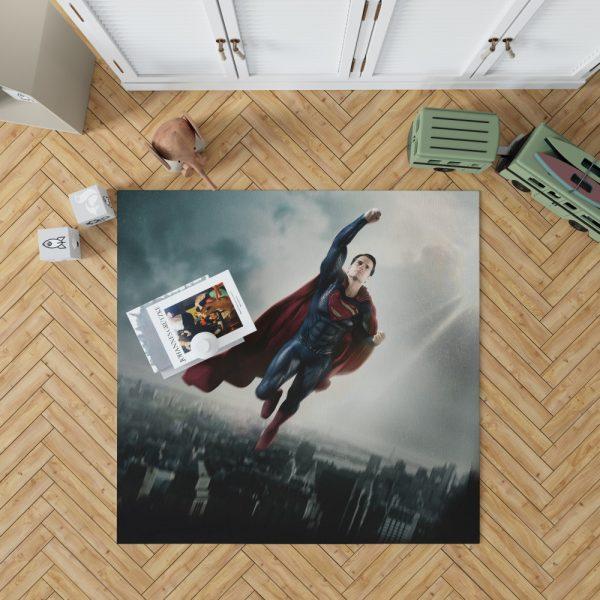 Man Of Steel Movie Superman Bedroom Living Room Floor Carpet Rug 1