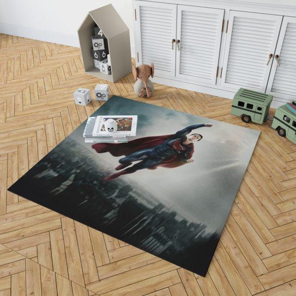 Man Of Steel Movie Superman Bedroom Living Room Floor Carpet Rug 2