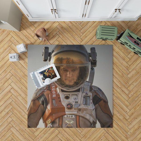 Mark Watney Matt Damon in The Martian Movie Bedroom Living Room Floor Carpet Rug 1