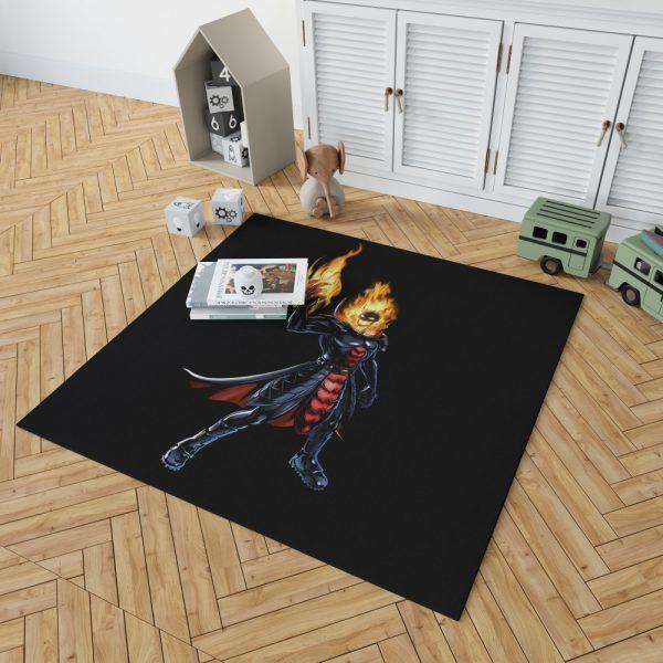 Marvel Comics Ghost Rider Bedroom Living Room Floor Carpet Rug 2