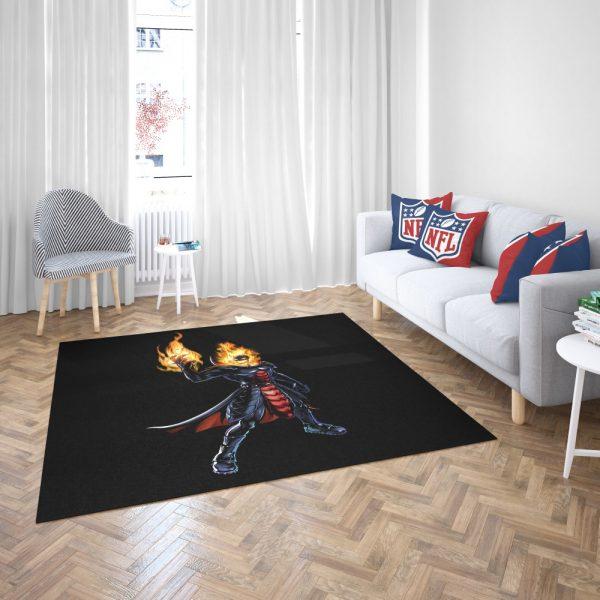 Marvel Comics Ghost Rider Bedroom Living Room Floor Carpet Rug 3