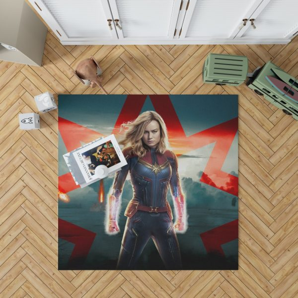 Marvel MCU Captain Marvel Movie Brie Larson Bedroom Living Room Floor Carpet Rug 1