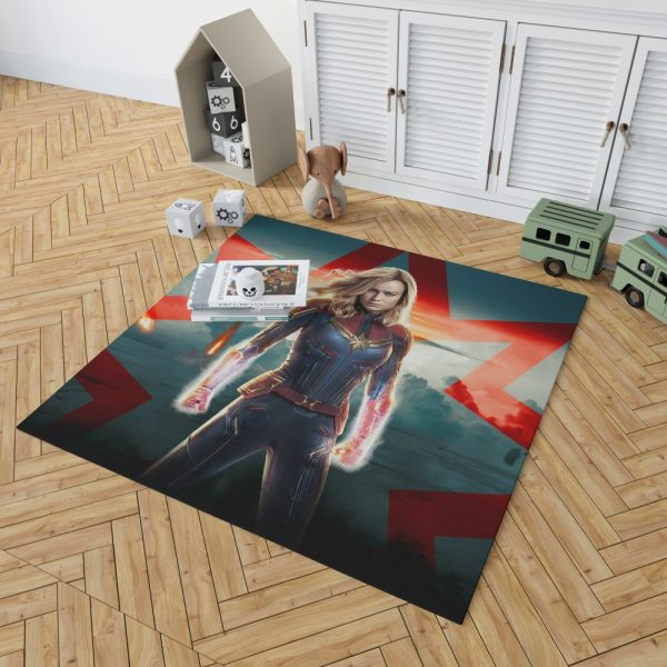 Marvel MCU Captain Marvel Movie Brie Larson Bedroom Living Room Floor Carpet Rug 2