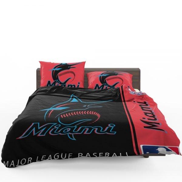 Miami Marlins MLB Baseball National League Bedding Set 1