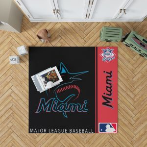 Miami Marlins MLB Baseball National League Floor Carpet Rug Mat 1