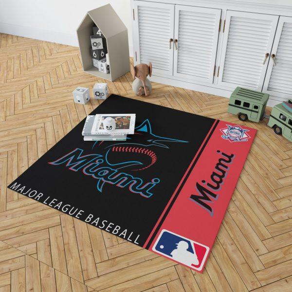 Miami Marlins MLB Baseball National League Floor Carpet Rug Mat 2