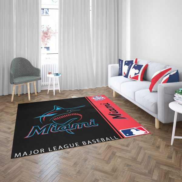 Miami Marlins MLB Baseball National League Floor Carpet Rug Mat 3