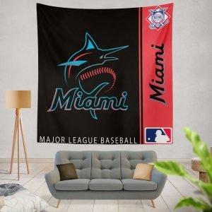 Miami Marlins MLB Baseball National League Wall Hanging Tapestry
