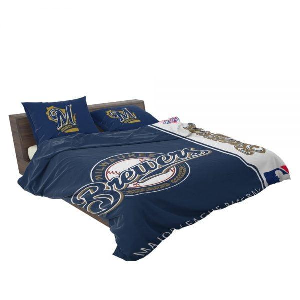 Milwaukee Brewers MLB Baseball National League Bedding Set 3