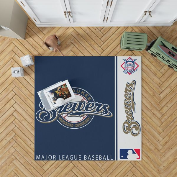 Milwaukee Brewers MLB Baseball National League Floor Carpet Rug Mat 1