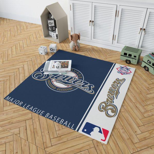 Milwaukee Brewers MLB Baseball National League Floor Carpet Rug Mat 2