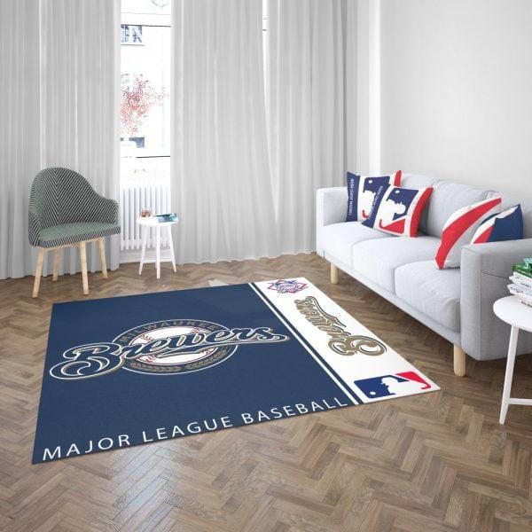 Milwaukee Brewers MLB Baseball National League Floor Carpet Rug Mat 3