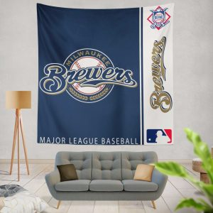 Milwaukee Brewers MLB Baseball National League Wall Hanging Tapestry