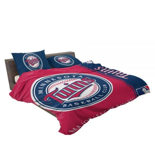 Minnesota Twins MLB Baseball American League Bedding Set 3