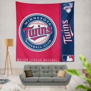 Minnesota Twins MLB Baseball American League Wall Hanging Tapestry