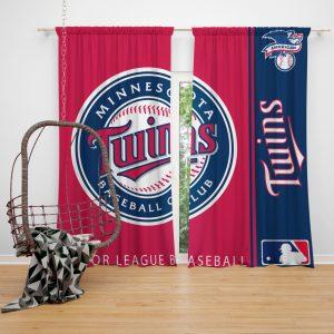 Minnesota Twins MLB Baseball American League Window Curtain