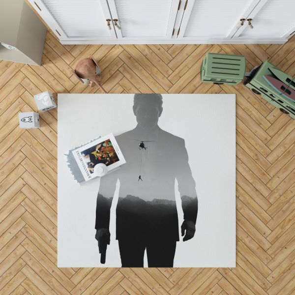 Mission Impossible Fallout Movie Ethan Hunt Tom Cruise Bedroom Living Room Floor Carpet Rug 1