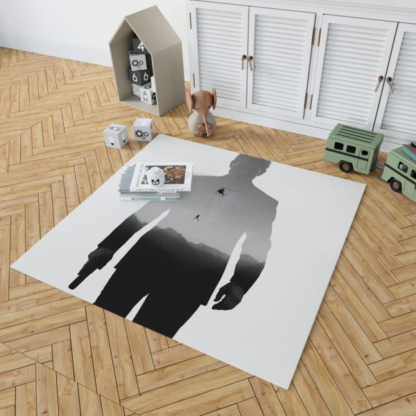 Mission Impossible Fallout Movie Ethan Hunt Tom Cruise Bedroom Living Room Floor Carpet Rug 2