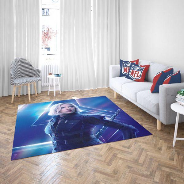 Natasha Romanoff Black Widow Marvel Avenger Bedroom Living Room Floor Carpet Rug 3